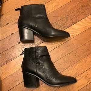 Banana a Republic Black Leather Booties